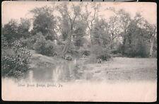 BRISTOL PA Silver Brook Bridge Antique B&W Rotograph Postcard Early Old Vtg PC