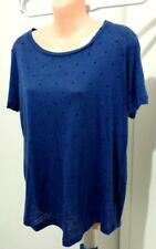 Summer Women  COUNTRY ROAD Top Blouse T-Shirt Linen Blue Size S   L288