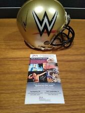 VINCE MCMAHON Signed Riddell Football Custom WWE Mini Helmet wwf JSA wrestling