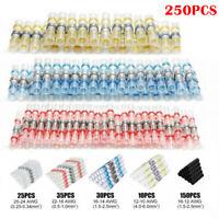 250PCS Mix Solder Sleeve Heat Shrink Butt Waterproof Wire Splice Connectors Kit