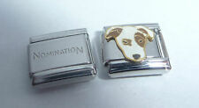 DOG 9mm Italian Charm +1x Genuine Nomination Classic Link Jack Russell I Love my