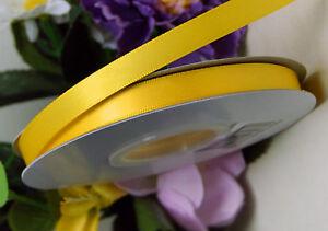2,50m Rest Satinband doppelseitig 10mm breit maisgelb (0,40€/m)