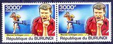 Werner Schlager, Table Tennis WC from Austria, Sports, Burundi 2011 MNH pair