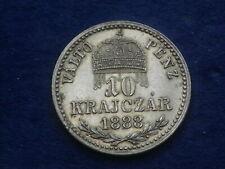 """10 Kreuzer 1888 KB Kremnitz Franz Josef  - Silber """" Erhaltung """"   W/20/506"""