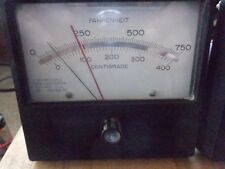 Panel mount temperature meter 0-750 degrees Farenheit 0-400 degrees centigrade