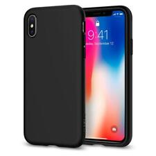 Spigen iPhone X Case Liquid Crystal Matte Black