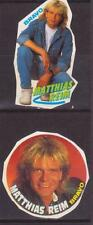 MATTHIAS REIM GERMANY MUSIC 2 RARE BRAVO SMALL VINTAGE OLD STICKERS R16869