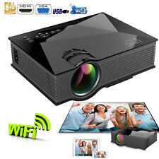 """New listing Portable Projector MultiMedia Home Cinema 1080P 1200 Lumens 130"""" Large Screen"""