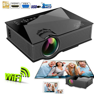 "Portable Projector MultiMedia Home Cinema 1080P 1200 Lumens 130"" Large Screen"