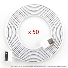 50x 10ft White Data Sync/Charging cable for iPhone 3/3g/3gs/4/4g/4s iPod touch