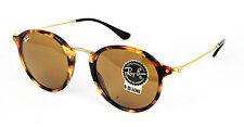 Ray Ban Sonnenbrille / Sunglasses Round Fleck RB2447 1160 49[]21 145 3N + Etui