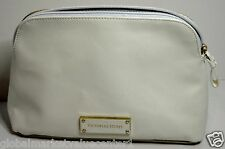 Victoria's Secret White & Ivory Cosmetic make up Bag Purse Wallet Clutch NEW