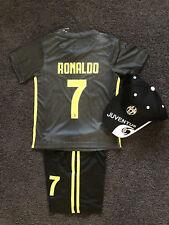 【EXPRESS POST】2019 kids soccer jersey  Juventus away kit set black #7 Ronaldo