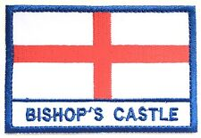 Bishops Castle England Town & City Embroidered Sew on Patch Badge