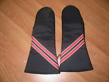 Vintage Snowmobile Motorcycle Gloves Mittens Leather Vinyl Nylon Medium Nice 70s
