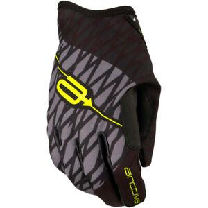 Arctiva SC1 Snowmobile Gloves (Black / Hi-Viz Yellow) Choose Size