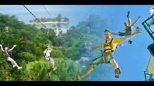 Mega Zip cheap ticket discount Thrill Seeker and Mega Jump wall Sentosa Cable Ca