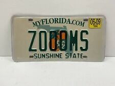 Florida FL 2009 Personalized Vanity License Plate ZOOOMS