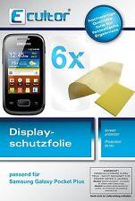 6x Samsung Galaxy Pocket Plus Protector de Pantalla transparente