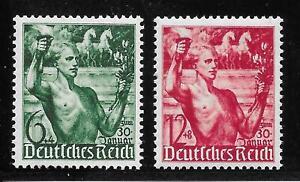 #0660# Deutsches Reich 1938: Machtergreifung, Nr. 660-661 (Satz) postfrisch **