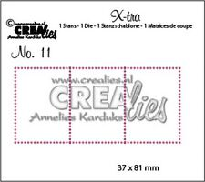 Crealies X-tra Cutting Die - 3 Stamps No.11 CLXTRA11 37x81mm