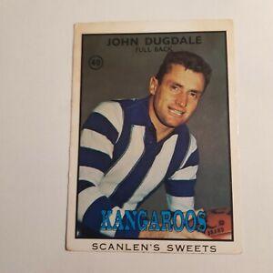 1968B vfl scanlens card 40 John Dugdale