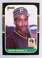 BARRY BONDS Pittsburgh Pirates 1987 Donruss RC Rookie Card #361 - (c)