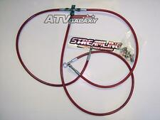 "Streamline Red +2"" Steel Braided Front Brake Lines Yamaha Banshee 350 1987-2014+"