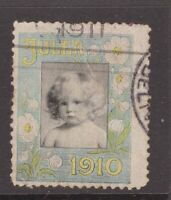 Denmark 1910 cinderella stamp postally used?