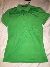 NWT RLX BY RALPH LAUREN  WOMEN SS POLO FRESH GREEN SOLID SIZE SMALL