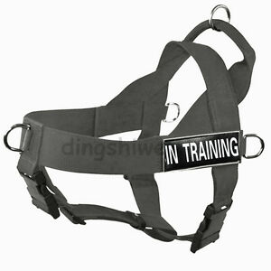 No Pull Service Dog Harness Multi Vest with Removable label Patches IN TRAINING