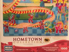 Mega Puzzles: Hometown Collection 1000 Piece Dragon Dance Puzzle Rare 2013 NEW
