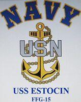 USS SUMMIT COUNTY LST-1146 VIETNAM VINYL /& SILKSCREEN NAVY ANCHOR SHIRT//SWEAT