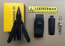 Leatherman WAVE BLACK+Leather Sheath Black+Bit Kit+Removable Pocket Clip