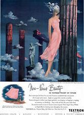 Pink Textron Slip VENUS BEAUTY Nylon Lingerie MILO 1940s Magazine Ad