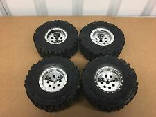 B New Bright 1/10 Jeep Rock Crawler  Tire & Wheel Set Only
