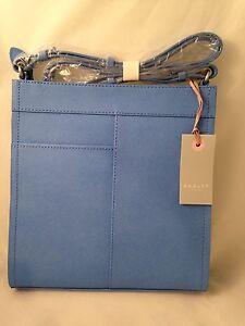 Radley Westonbury Xbody Bag Blue Leather RRP£159
