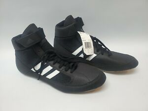 NWT Adidas Men's HVC Wrestling Shoe Size 10 AQ3325 Black and White