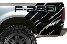 "Vinyl Graphics Decal Wrap Kit for Ford F-250 1999-06 ""F-250"" QUARTER Matte Black"