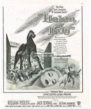 1956 Helen Of troy - Rossana Podesta Vintage Movie Print Ad