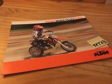 KTM 2003 minicycle 50 SX pro junior senior LC moto prospectus catalogue brochure