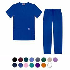 Sivvan Unisex Classic Scrub Set V-neck Top / Drawstring Pants (14 colors)