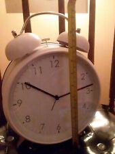 "Pink 12"" Newgate Twin Bell Alarm Clock, Vintage British Design & Style"