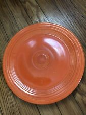 Lot Of 2 Vintage Orange Fiesta 9.5 Inch Luncheon Plates HLC USA