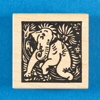 Happy Elephant Square Rubber Stamp by Toybox