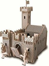 CAVALIERE CASTELLO: Woodcraft Costruzione Molo in legno 3d MODELLO KIT p314 età 7 Plus