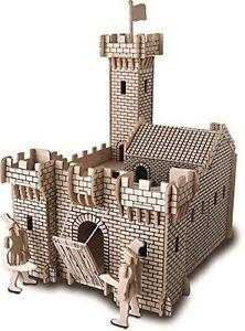 Knight Castle: Woodcraft Quay Construction Wooden 3D Model Kit P314 Age 7 plus
