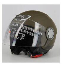Demijet casco moto leggero demi jet 10.4F GIVI opaco verde militare -> XS/54
