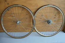 Vintage early 1970's Campagnolo Record / Mavic tubular wheels wheelset wielen