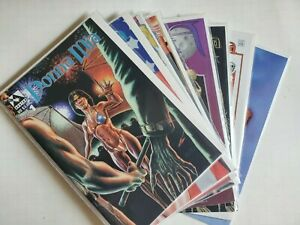 Donna Mia #1, #1B Nude, #2, Pinup Special #1B, Dark Fantasy #1 & #2 (Box 20)